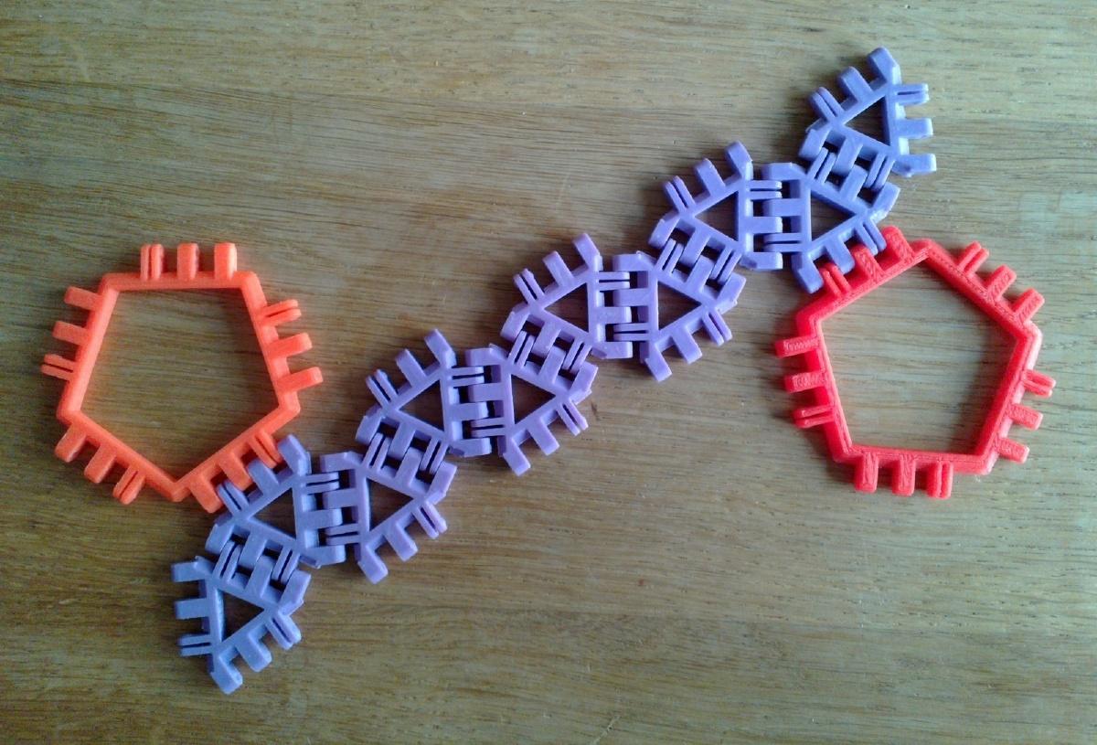 Pentagonal Antiprism Net Variant 1