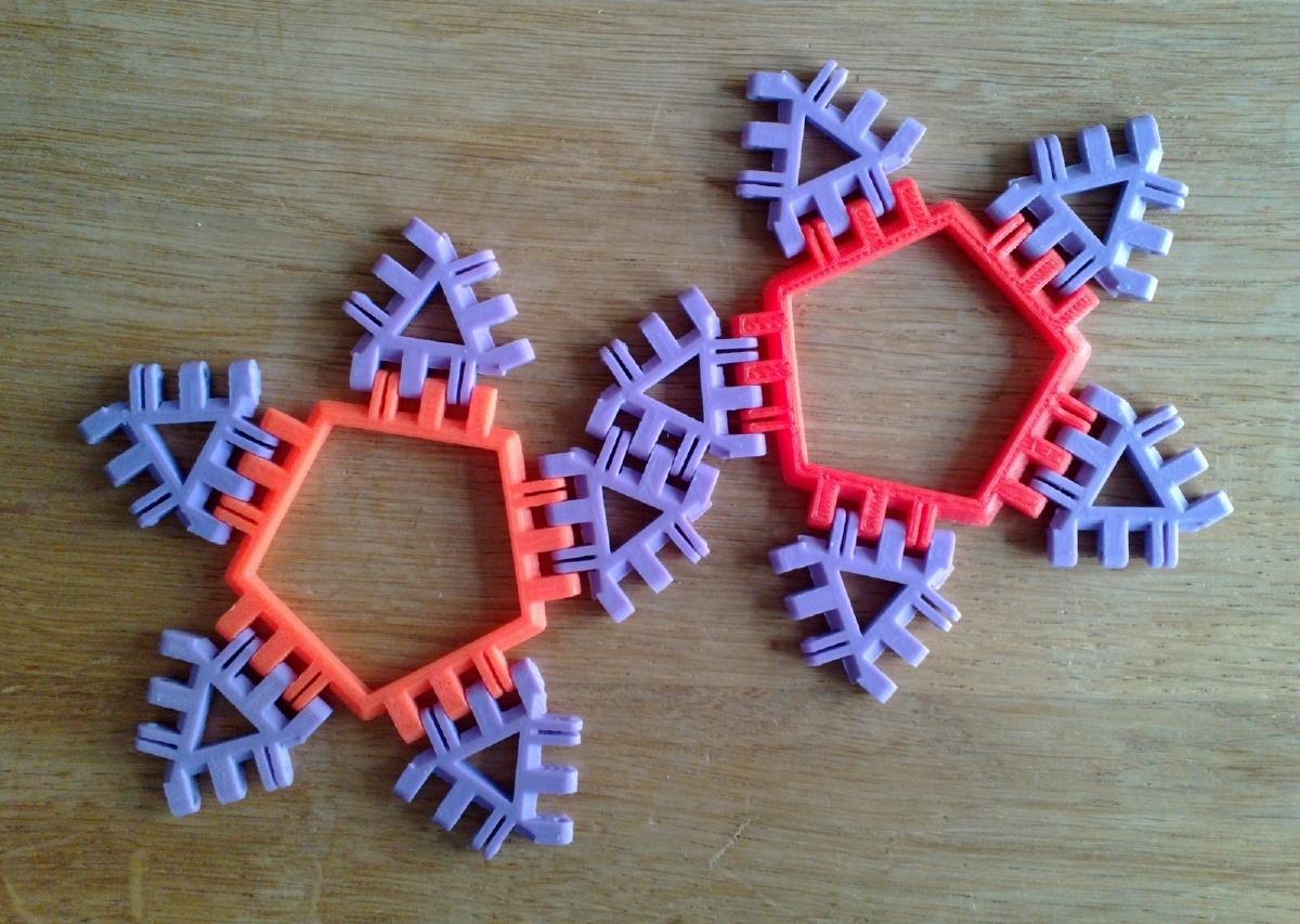 Pentagonal Antiprism Net Variant 2