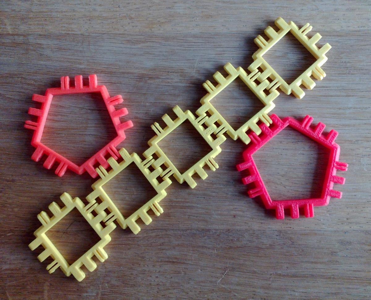 Pentagonal Prism Net Variant 2