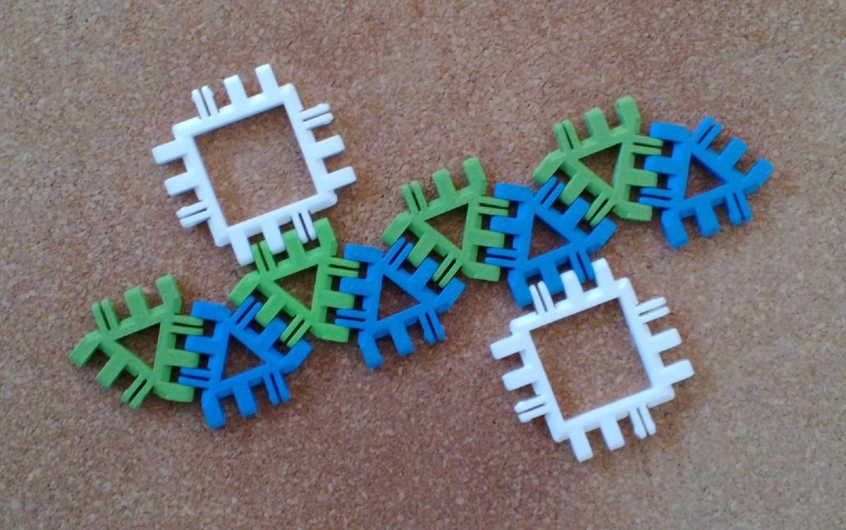 Square Antiprism Net Variant 1