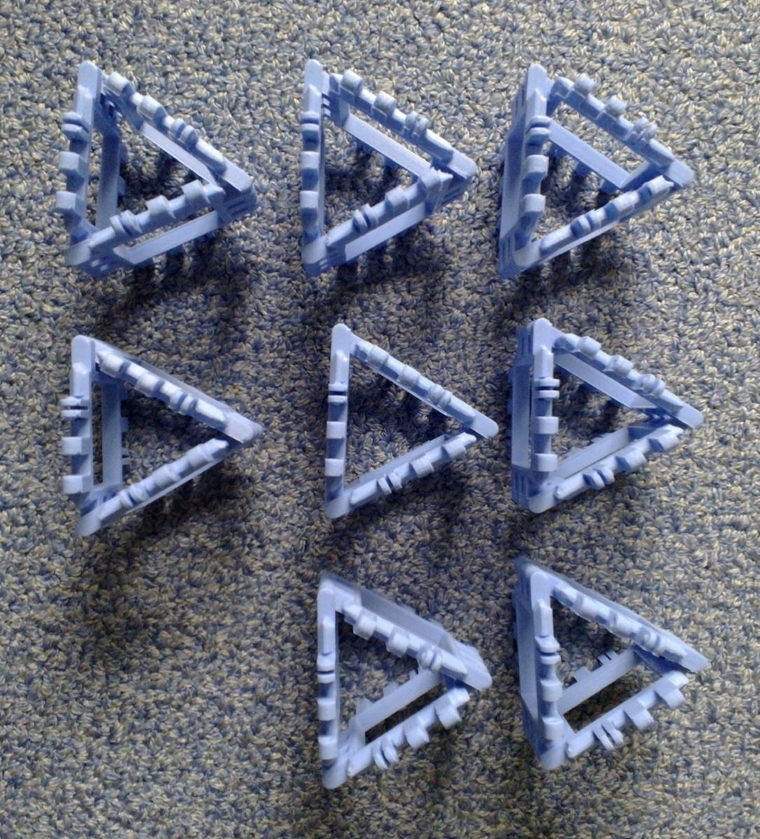 Toroidal truncated cube assembly step 1