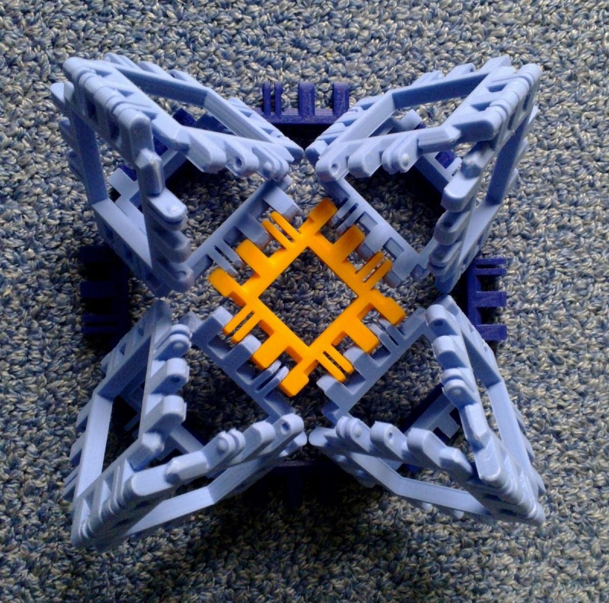 Toroidal truncated cube assembly step 3