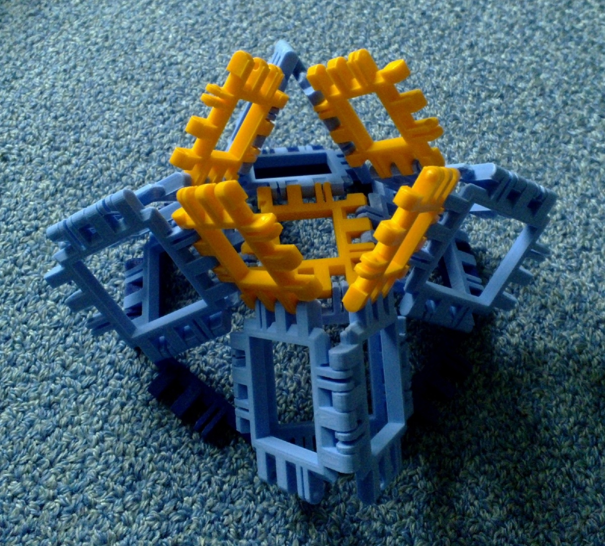 Toroidal truncated cube assembly step 4