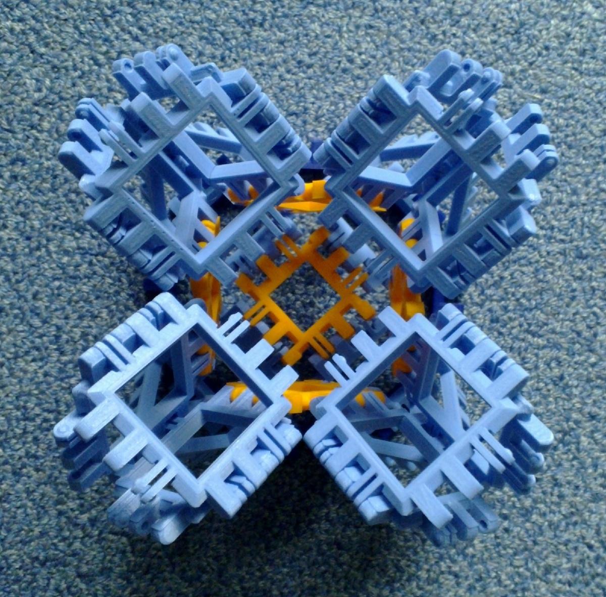 Toroidal truncated cube assembly step 5