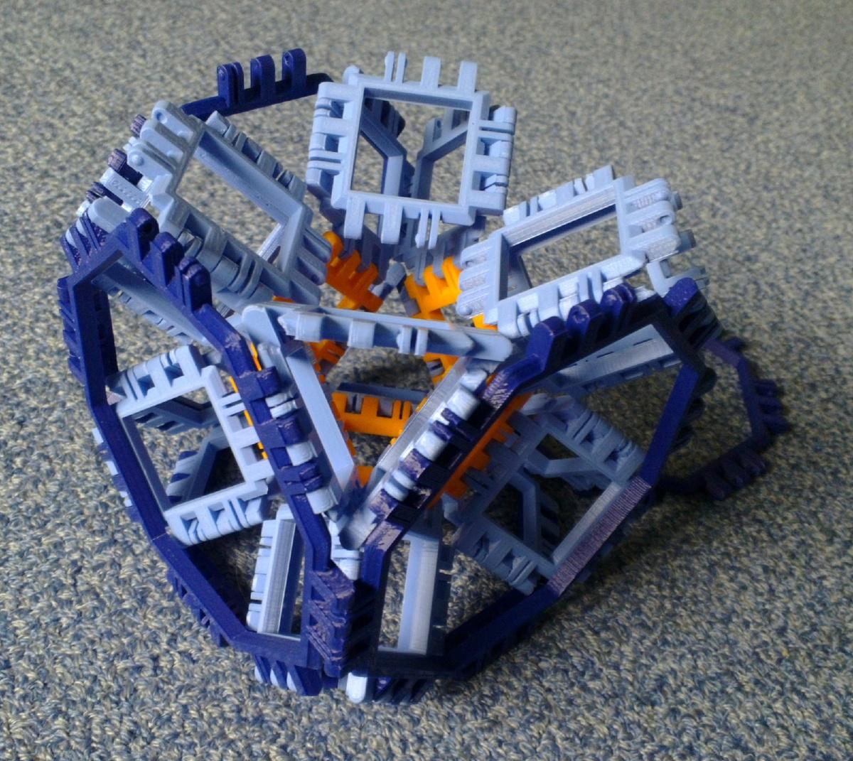 Toroidal truncated cube assembly step 7
