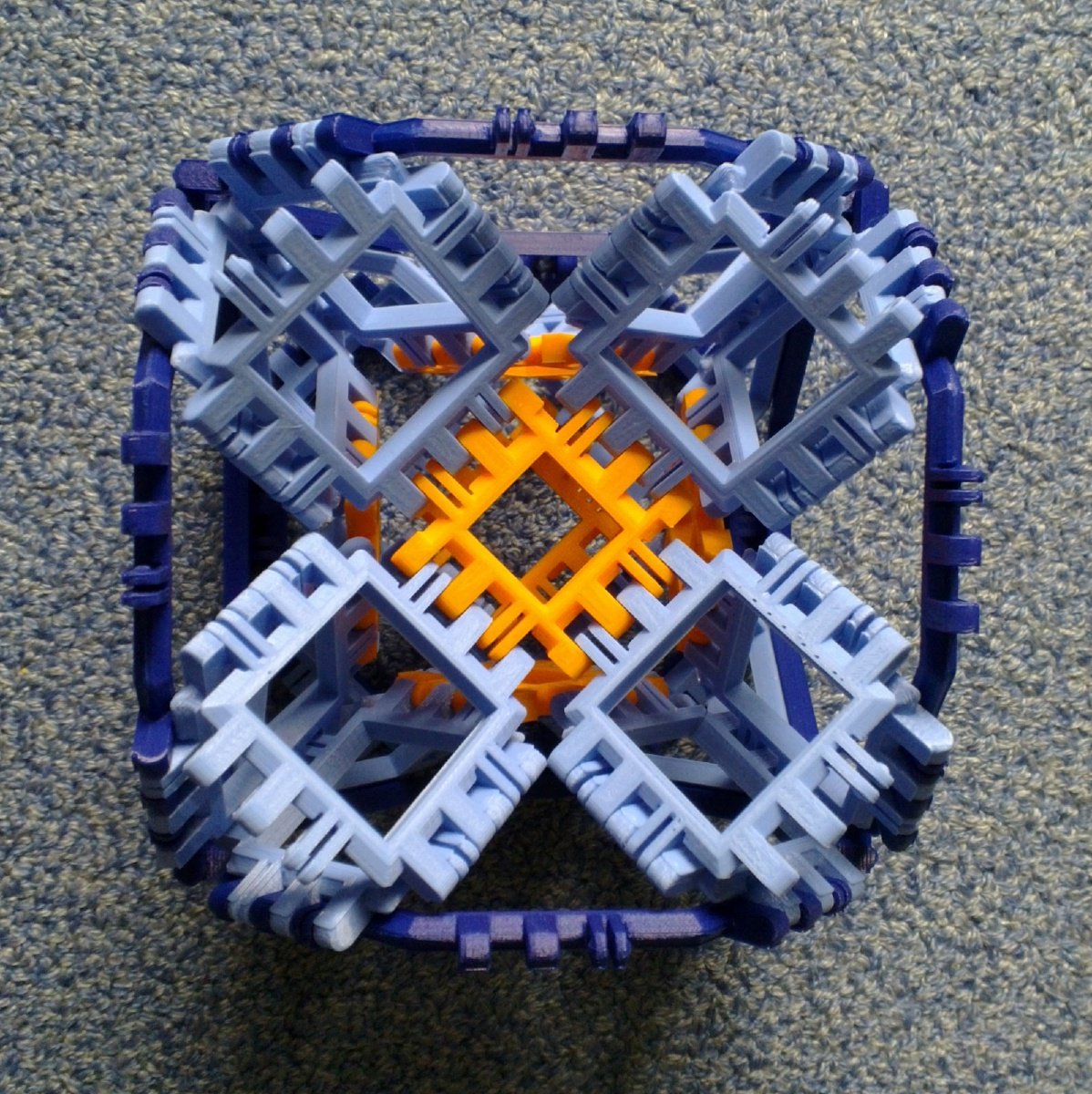 Toroidal truncated cube assembly step 8