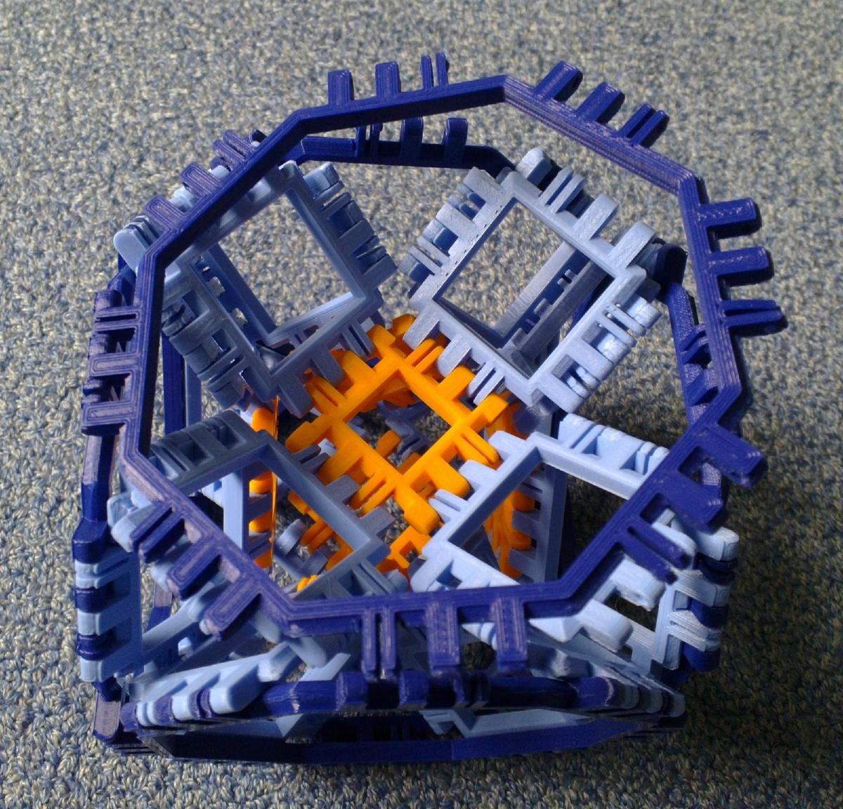 Toroidal truncated cube assembly step 9