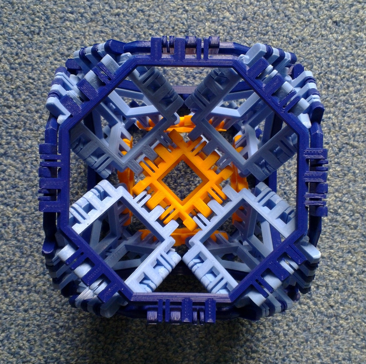 Toroidal truncated cube assembly finished