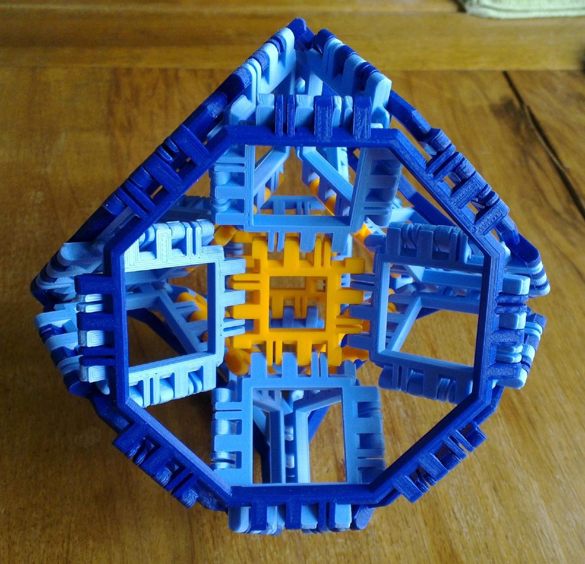 Toroidal truncated cube